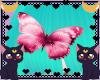 FOX  pink butterfly