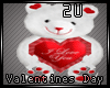 2u I Love You V Day Bear