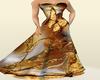 Golden ButterFly Dress