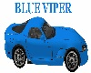 Viper Blue Sports Car