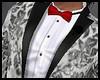 Tuxedo Grey Red Bow