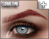 + pointed brows red