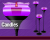 Purple Animated Candles