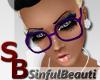 [SB] Nerd Glasses Purple