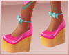 Mermaid Rave Wedges