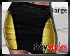 Black and Gold Miniskirt