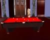 Nice Red Pool Table