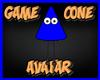 Game Cone Avatar Blue