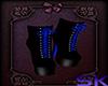(SK) Black/Blue Boots
