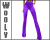 Fitted flares purple