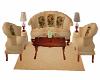 Elegant Vintage Sofa Set