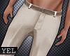 [Yel] Beige pants M
