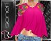 Maria pink blouse