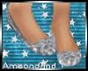 AM:: Silver Glitter Flat