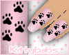 [Kb] Pink KittyPaw Nails
