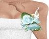 green wrist corsage