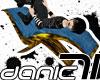 D71 BlueGold RelaxChair