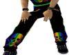 Black rainbow sweats