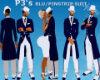 P3's BLU/PINSTRIP SHOES