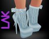 Blue knit boots