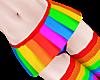B! Rainbow Layer Skirt