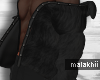 Blk Layerable Fur Coat