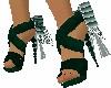 Skys Green Spike Heels