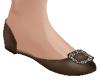 TF* Brown Dressy Flats