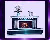 teal fireplace