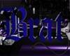 Brat Sign -Blue