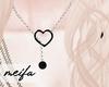 🌸 Heart Necklace SBLK