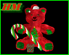 Teddy Bear Candy Cane