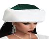 Green Mrs. Santa Hat