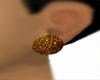 Circular gold earrings