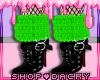 Green Fur Boots
