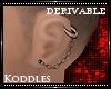 !K! Chain Earring M-L