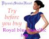 Royal blue metallic top