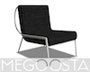 Blk Silver Accent Chair