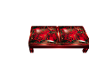 Poseless bench red