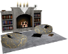 book corner fireplace