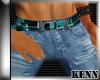*kn*Plaid Belt Jean