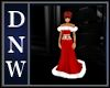Red xmas Ball Gown