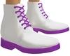 Purple Frill Boots