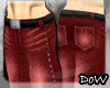 D0W Strait Jeans~Red