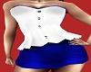 Bustier Blue Skirt Set