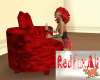 5 Pose Red Rose Couch