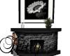 (K)Black fireplace