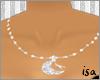 moon & scissors necklace