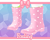 🎀Strawberry boots
