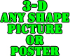 Any Shape 3D Sign or Pic